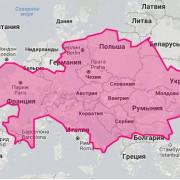 Площадь Казахстана и Европы