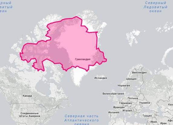 площадь Казахстана и Гренландии